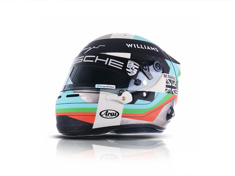 Helmet & Racingsuit Design for the Cooperation of Singer Porsche and Williams Engineering